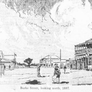 1887 - Burke Street Looking North